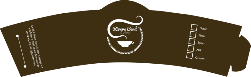 Rivers Bend Coffee Cup Sleeve Template Preview 2