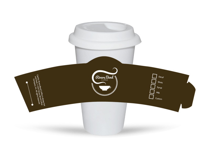 Rivers Bend Coffee Cup Sleeve Template Preview 1