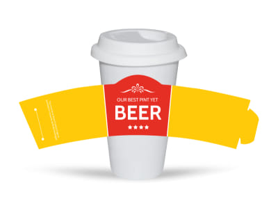 Richards Pour Beer Cup Sleeve Template preview