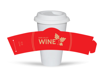 Napa Valley Wine Cup Sleeve Template preview