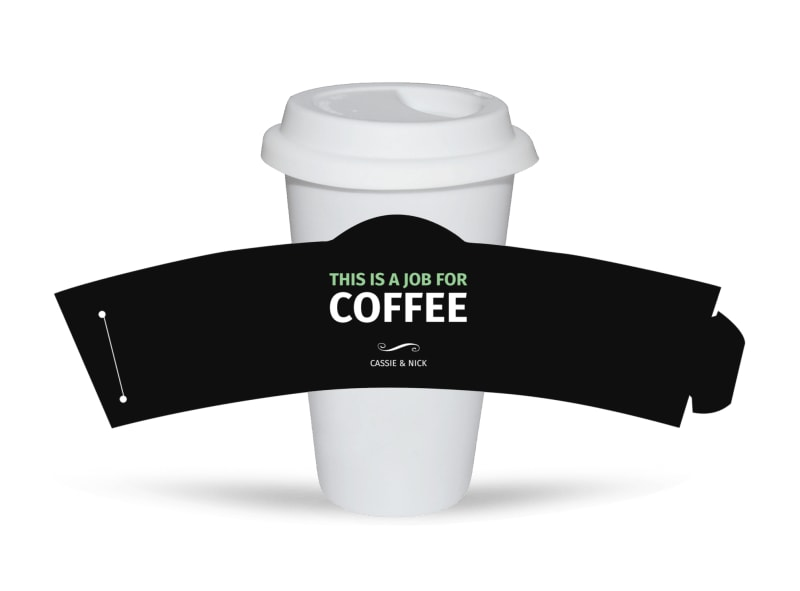 Funny Quote Cup Sleeve Template