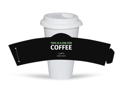 Funny Quote Cup Sleeve Template preview