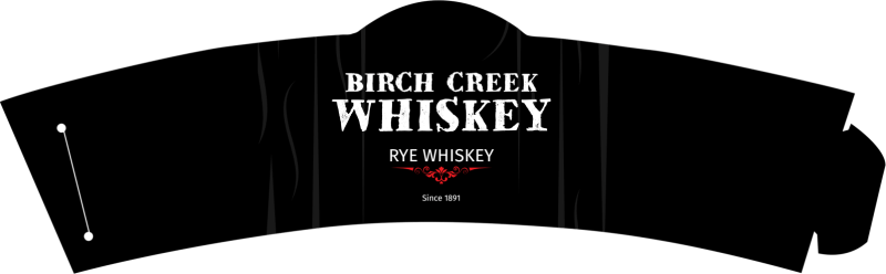 Birch Creek Whiskey Cup Sleeve Template Preview 2
