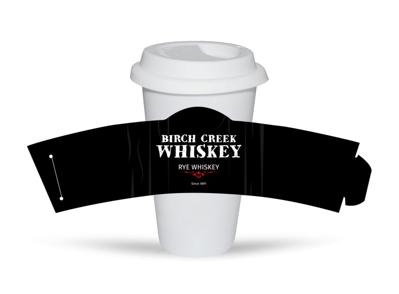 Birch Creek Whiskey Cup Sleeve Template Preview 1