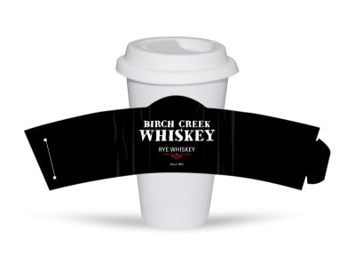 Birch Creek Whiskey Cup Sleeve Template