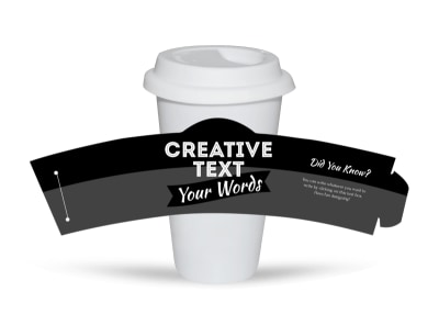 Generic Cup Sleeve Template 16346 preview