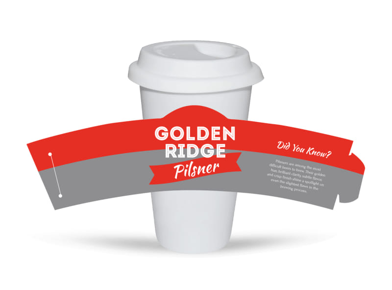 Golden Ridge Beer Cup Sleeve Template
