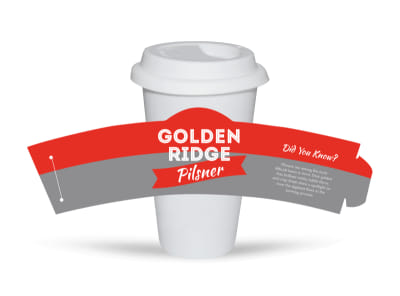 Golden Ridge Beer Cup Sleeve Template preview