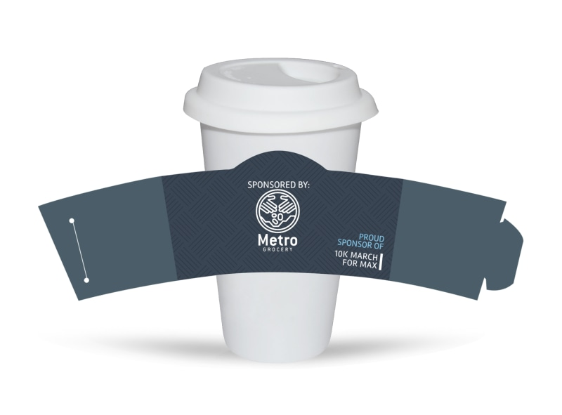 10k Sponsor Race Cup Sleeve Template