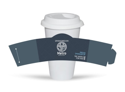 10k Sponsor Race Cup Sleeve Template preview