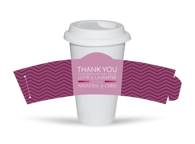 Wedding Thank You Cup Sleeve Template preview
