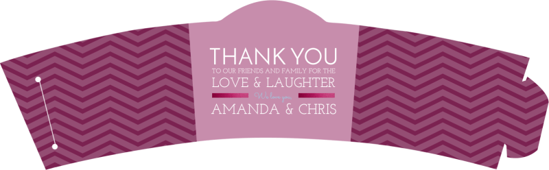 Wedding Thank You Cup Sleeve Template Preview 2