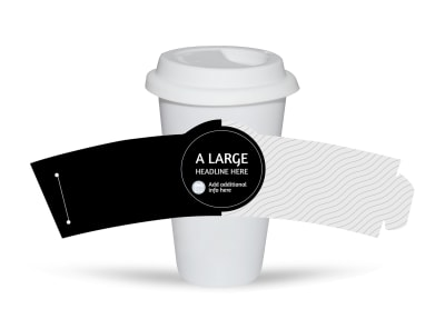 Generic Cup Sleeve Template 16351 preview