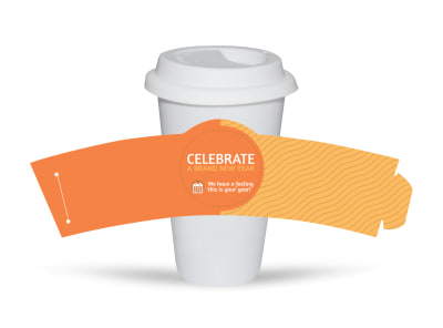 New Years Party Cup Sleeve Template