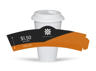 Springfield Hotel Cup Sleeve Template preview