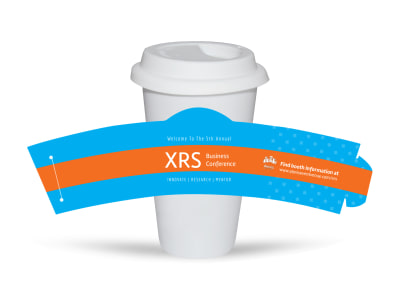 XRS Business Conference Cup Sleeve Template preview