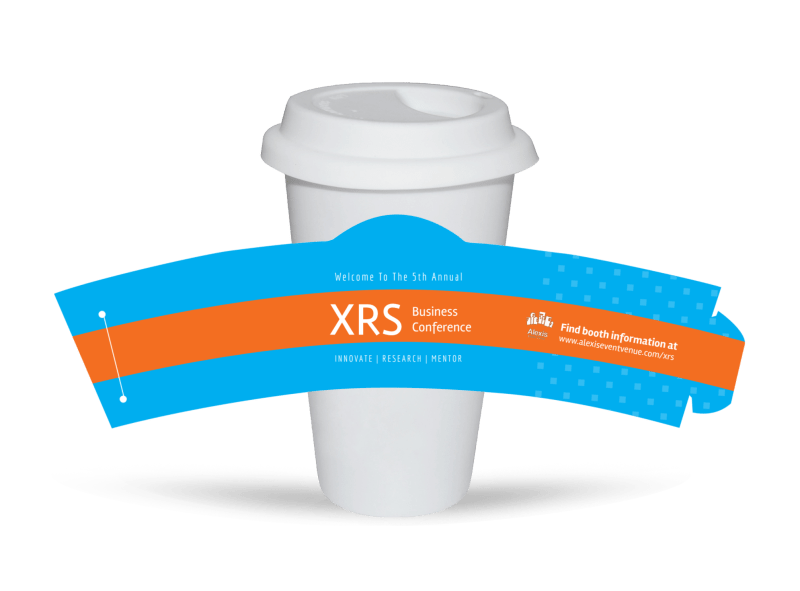 XRS Business Conference Cup Sleeve Template Preview 1
