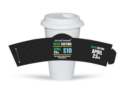 Beer Tasting Cup Sleeve Template