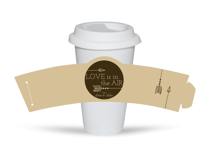 Newlywed Wedding Cup Sleeve Template