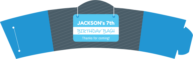 Birthday Bash Cup Sleeve Template Preview 2