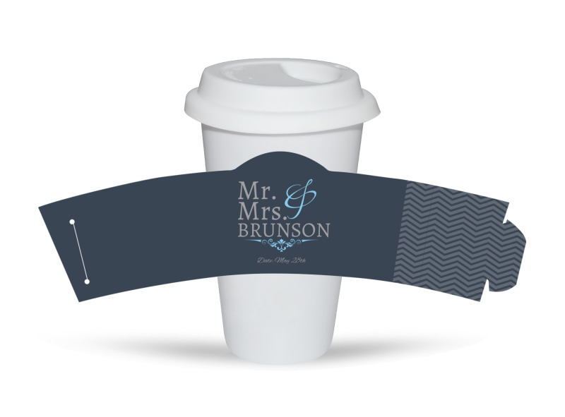 Mr. & Mrs. Cup Sleeve Template Preview 3