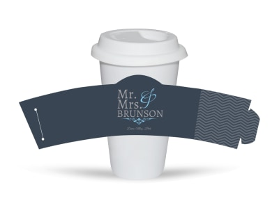Mr. & Mrs. Cup Sleeve Template preview