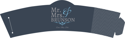 Mr. & Mrs. Cup Sleeve Template Preview 1