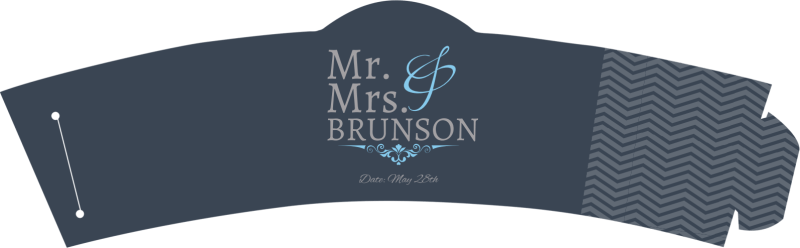 Mr. & Mrs. Cup Sleeve Template Preview 2