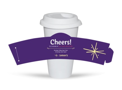 Sarah's Restaurant Cup Sleeve Template preview