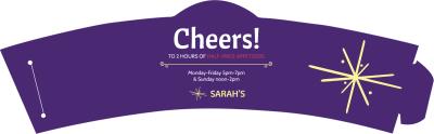 Sarahs Restaurant Cup Sleeve Template Preview 1
