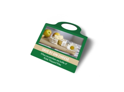 Wine & Cheese Promo Bottle Tag Template 2 preview