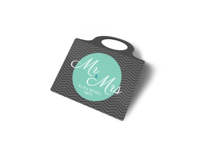 Mr. & Mrs. Wedding Bottle Tag Template 2 preview