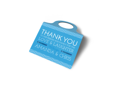 Wedding Thank You Bottle Tag Template 2