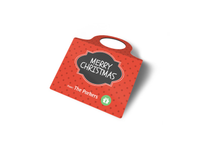 Merry Christmas Bottle Tag Template 2