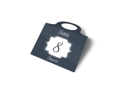 Table Number Bottle Tag Template 2