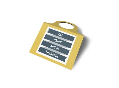 Eat & Drink Bottle Tag Template 2
