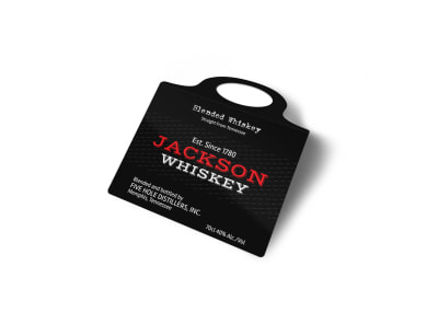 Jackson Whiskey Bottle Tag Template 2 preview