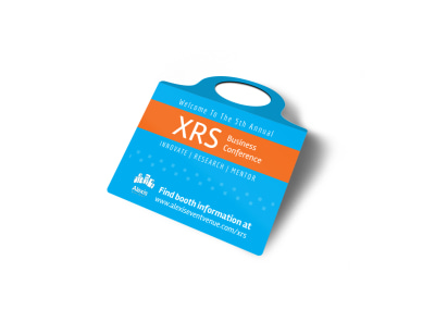 XRS Business Conference Bottle Tag Template 2 preview