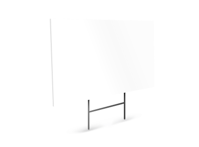 Blank Canvas Yard Sign Template preview