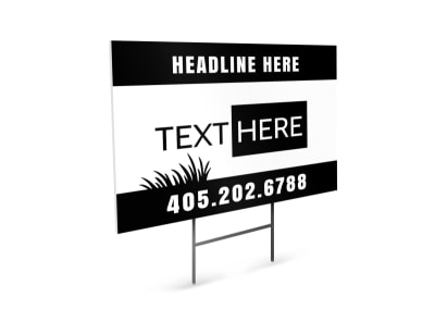 Generic Yard Sign Template 16449