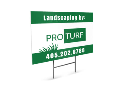 Pro Turf Landscaping Yard Sign Template preview