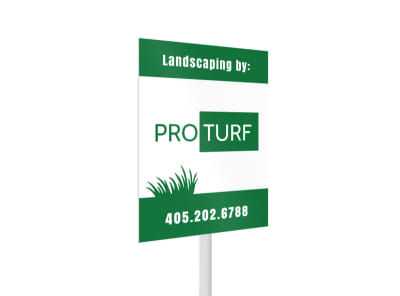 Pro Turf Landscaping Yard Sign Template 2