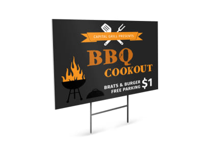 BBQ Cookout Yard Sign Template