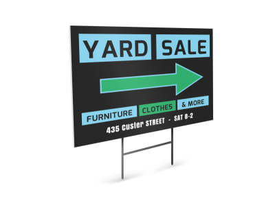 Yard Sale Yard Sign Template