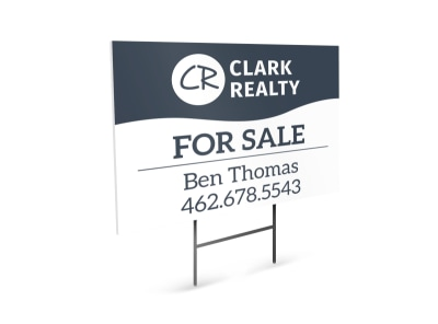 Clark Realty For Sale Yard Sign Template preview