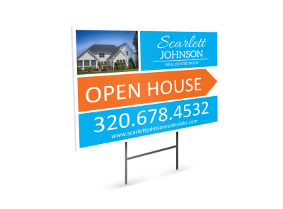 Scarlett Johnson Open House Yard Sign Template
