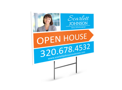 Scarlett Johnson Open House Yard Sign Template preview