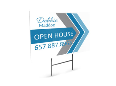 Debbie Maddox Open House Yard Sign Template