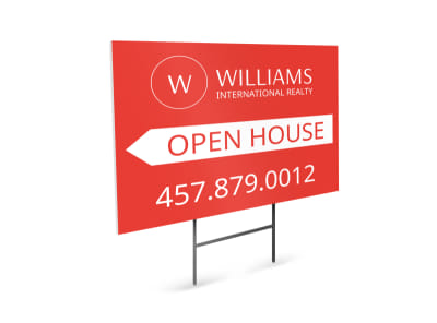 Williams Realty Open House Yard Sign Template preview