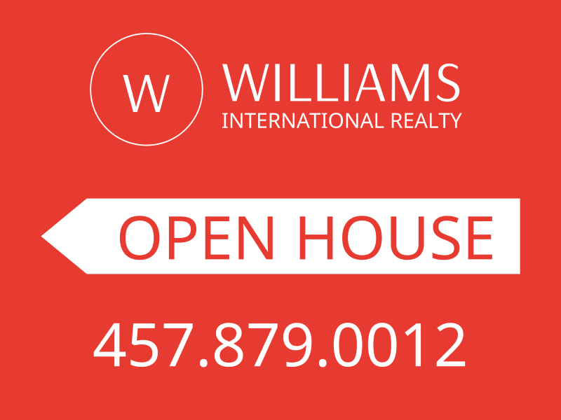 Williams Realty Open House Yard Sign Template Preview 2